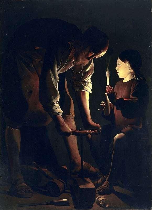 Иисус со св иосифом плотником в его